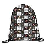 moguiyu2067 kjhglp Men Women Brave Pusha Daytona T Gym Drawstring Drawstring Backpacks Shoulder Bags Sport Sack Backpack for Home Travel Exercise Beam Mouth Package A3610