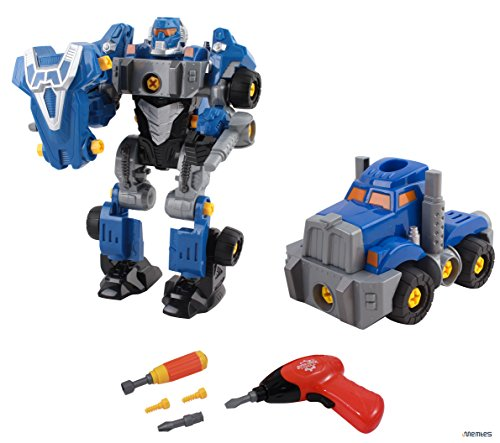 Memtes Take-A-Part Robot Toy Truck Toy, Included with Power Drill (42 Pieces)