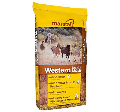 marstall Premium-Pferdefutter Western Struktur-Müsli, 1er Pack (1 x 20 kilograms)