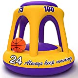 ROYPOUTA Pool Basketball Hoop, Inflatable Hoop with Ball, Pool Toys Games for Kids Teens and Adults Family 8 12