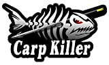 Carp Killer Skeleton Arrow Decals Sticker Fishing- - Sticker Graphic - Auto, Wall, Laptop, Cell Auto, Wall, Laptop, Cell Phone, Notebook, Bumper, Window, Truck