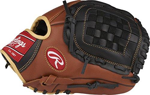"Rawlings Sandlot Series Leather Basket Web Baseball Glove, 12"", Right Hand Throw"