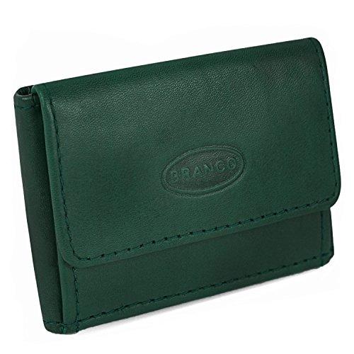 Sehr Kleine Geldbörse/Mini Portemonnaie Größe XS aus Leder, für Damen und Herren, Jäger-Grün, Branco 103