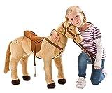 Happy People 58410 - Cavallo, portata 100 kg, con tre suoni, colore: Beige