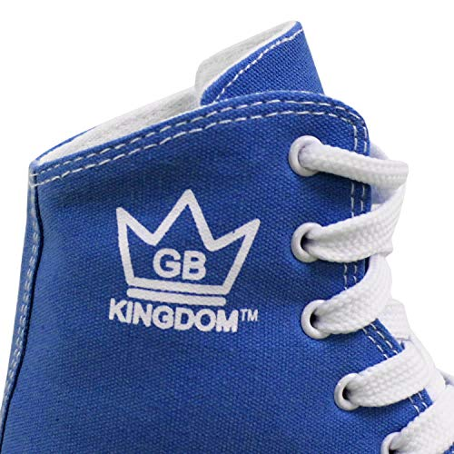 Kingdom GB Canvas HI-PE Girls Quad Roller Skates Junior Kids (2 UK, Royal Blue)