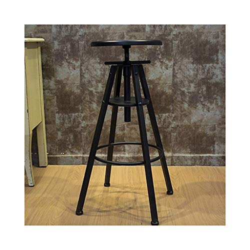 Onbekend zwart verstelbare barkruk voorstoel industriële wind retro- huisdining stoel 01-08