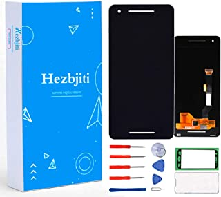 Hezbjiti LCD Display Touch Screen Replacement Digitizer Glass Assembly Compatible for Google Pixel 2 5.0 G011A with Tools and Adhensive (Black)