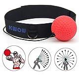 KWOW Bola de Combate con Banda para la Cabeza para Gimnasio, Entrenamiento de Velocidad, Boxeo, Boxeo, Boxeo, Boxeo, Artes Marciales Mixtas (MMA), Color Rojo