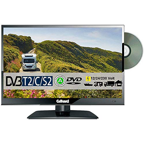 Gelhard GTV1682PVR DVD 16 Zoll Widescreen TV DVB-S2-T2 Full HD 12/24/230 Volt mit PVR-Funktion