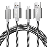Micro USB Kabel, 2Pack 3M Micro USB Ladekabel USB 2.0 Nylon