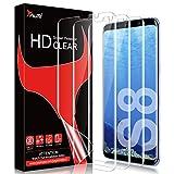 TAURI [3 Stück Schutzfolie für Samsung Galaxy S8, Galaxy S8 Folie [Blasenfreie] [Fingerabdruck-ID unterstützen] [Klar HD] Weich TPU Bildschirmschutzfolie
