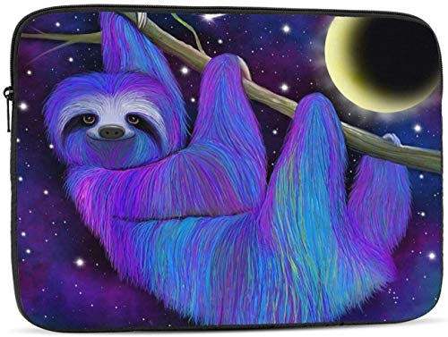 Sloth Moonlight Laptop Sleeve Bag - Evecase 15 Inch Neoprene Universal Sleeve Zipper Protective Cover Case for Notebook