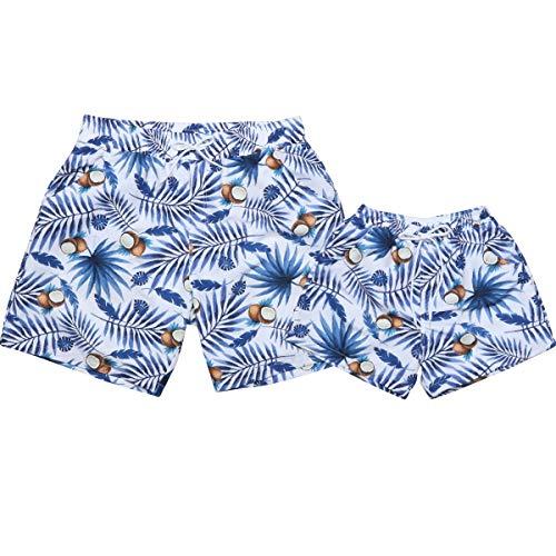 CWWHY Sommer Strand Shorts, Sohn Und Vater Badehose, Familie Passende Badebekleidung Zweiteiler,B