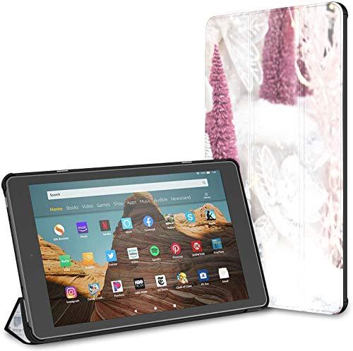 Custodia per tablet Hd 10 freddo inverno neve coniglio fuoco (nona settima generazione, versione 2019 2017) Custodia Kindle grande Custodia Kindle Fire Hd 10 Auto Wake sleep per tablet 10.1 polli