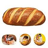 LZYMSZ 3D Almohada de Pan de Simulación, Cojín Lumbar de Felpa con Relleno de Felpa,Cojín Soft 3D Butter Bread Cushion para sofá/Dormitorio/Oficina/Dormitorio en Navidad (Mantequilla, 15.8inch)