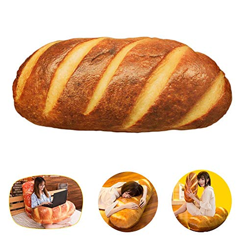 LZYMSZ 3D Simulation Bread, Plush Stuffed Food Lumbar Back Cushion,Soft 3D Butter Bread Cushion...