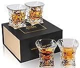 KANARS 4 Pièces Verres à Whisky, 230ml Verre a Whiskey en Cristal, Belle Boîte Cadeau