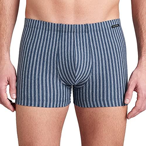 Schiesser Herren Natural Dye Shorts Boxershorts, blaugemustert, 5