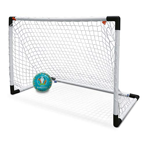Mondo Toys - UEFA EURO 2020 goal post mini - Set 1 Mini Porta da Calcio per Bambini con Rete - Pallone Euro 2020 INCLUSO - 28581