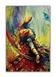 Dimensions - 35 inches x 22 inches + Additional border on each side for framing. Eco Friendly Digital Reproduction - 100% Pure Cotton Canvas – 0% PVC/Plastic, 0% Flex. Specially designed only for Fine Art reproduction. Thickness - 370 GSM. Finish - U...