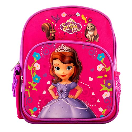 Princess Sofia the First 10' School Backpack Book Bag Toy Bag Fun Pouch Package with Crayons PS05309