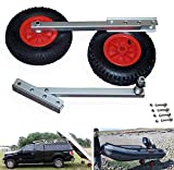 SEAMAX Easy Load Boat Launching Wheels Set for Inflatable Boat & Aluminum Boat, with 12' Pneumatic...