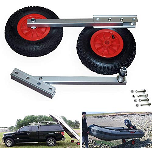 SEAMAX Easy Load Boat Launching Wheels Set for Inflatable Boat amp Aluminum Boat with 12quot Pneumatic Tire amp Quick Released 2 Stages Position
