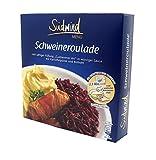 """Saftige Schweineroulade """"Cuxhavener Art"""" in würziger Sauce mit Kartoffelpüree und Rotkohl – Fertiggerichte für die Mikrowelle - Südwind Lebensmittel"""