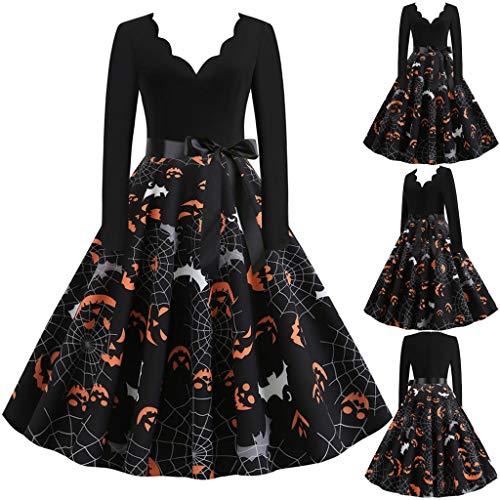 Vestido de Halloween para mujer, vestido festivo, elegante, vestido de cóctel, largo...