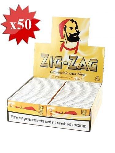 papier à rouler zig zag jaune x50