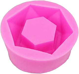 Silicone Mold DIY Flower Pot, Handmade Resin Succulent Plant Vase Gypsum Cement Molds Making Kit Clay Craft Making Cement Mold Silicone Concrete Bottle Molding Tool for Candles Make Cakes(Rose)