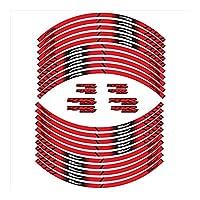 モーターサイクルガスタンクパッド保護デ に適用するCBR650Fオートバイタイヤステッカー内輪反射装飾デカール (Color : C)