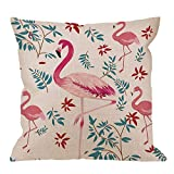 Throw Pillow Cover with Palm Leaf and Sun Flower Sweet Lovely Pink Home Fundas de Almohada Decorativas para sofá Funda de Almohada para sofá 40 * 40cm