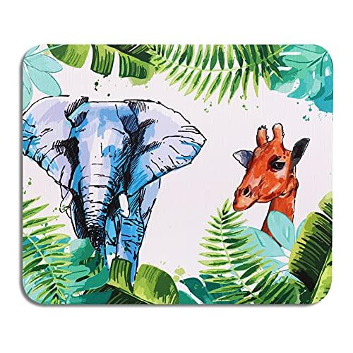 AOKSUNOVA Tapis de Souris Elephant Mousepad Animaux 24 x 20 x 0,3 cm Coloré Design