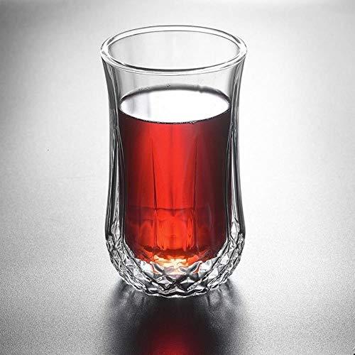 TUOP Dubbele muur Whisky Stout Wijnglas Likeur Bier Glas Transparant Bar Wijnglas