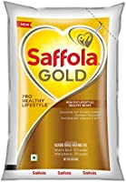 Saffola Gold, Pro Healthy Lifestyle Cooking Oil, Helps Keep Heart Healthy, 1 L Pouch