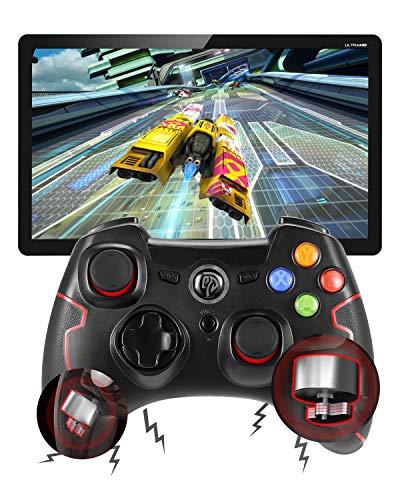 EasySMX 2 Stück, 2,4 G Wireless Gamepad Controller Joysticks Dual Vibration Turbo für PS3 / Android Tablet/Windows PC