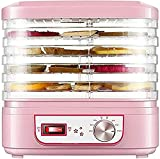 NKTJFUR Máquina de deshidratador de alimentos deshidratadoras de alimentos, circulación de alto calor, control de temperatura, 5 bandejas - secadora de verduras de fruta, pequeña casa de carne de carn