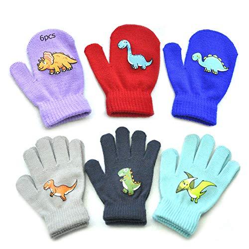 Anyingkai 6pcs Strickhandschuhe Kleinkind,Kinder Winterhandschuhe,Winterhandschuhe,Handschuhe Kinder,Kids Mittens,Warme Kinderhandschuhe,Winter Strickhandschuhe