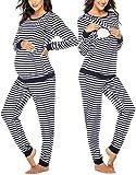 MAXMODA Ropa Premamá Lactancia Pijama Conjunto Maternidad Invierno Pijama Premamá Embarazo