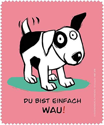 Rannenberg & Friends Brillenputztuch mit Hund - Du bist einfach wau!