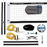 DUNLOP Professional Outdoor Sports Volleyball Set: Portable Net with 2' Diameter...