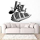 yaofale PVC-Wandaufkleber-Jazz Alphabet Klavier und Notizen