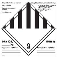 """6"""" x 6"""" Dry Ice un1845ラベル( 500per Roll )"""
