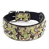 WT-DDJJK Collar de Cadena, Lujoso Collar de Perro con Tachuelas y púas Collares de Cuero de PU Acolchados para Perros medianos Grandes Correa de Cuello