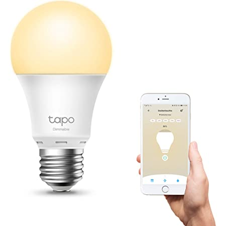 Tp Link Tapo L510e Smart Wifi Bulb E27 Dimmable 8 7 W No Hub Required Compatible With Alexa Google Assistant Sequences And Schedules Away Mode Tapo App Energy Saving Küche Haushalt