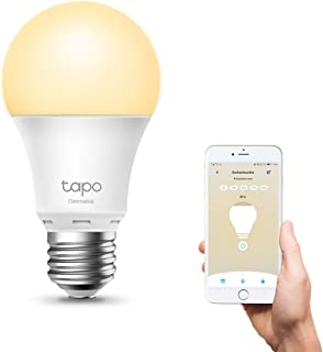 TP-Link Tapo Smart Wi-Fi Light Bulb, Dimmable - E27, 8.7 W, Works with Amazon Alexa (Echo and Echo Dot), Google Home, Dimm...