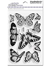 Stampendous 4 x 6-inch Butterflies Perfectly Clear Stamps Sheet, Transparent