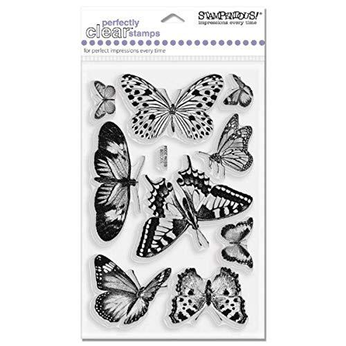 Stampendous 4x 6Schmetterlinge perfekt Clear Stamps Blatt, transparent
