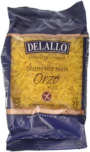 Delallo Gluten Free Corn & Rice Pasta Orzo No.65 -- 12 oz - 2 pc